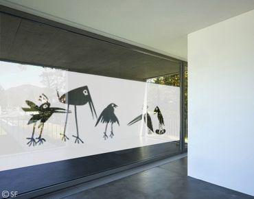 Fensterfolie - Sichtschutzfolie No.SF926 Funny Birds - Milchglasfolie Blickdicht