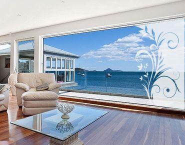 Fensterfolie - Fenstertattoo No.SF923 Blumendekor - Milchglasfolie