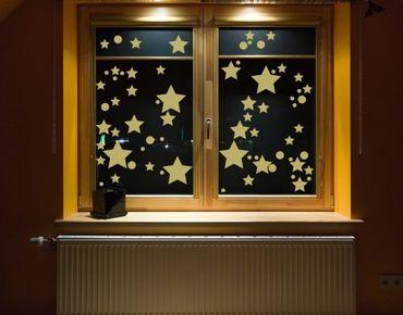 Fensterfolie - Fenstertattoo No.CG106 Milchstraße - Milchglasfolie