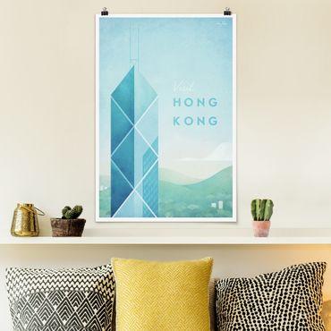 Poster - Reiseposter - Hong Kong - Hochformat 3:2