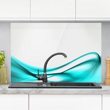 Spritzschutz Glas - Turquoise Design - Querformat - 3:2