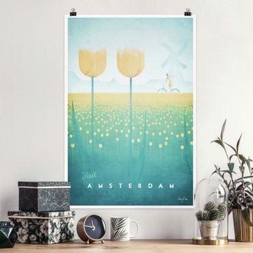 Poster - Reiseposter - Amsterdam - Hochformat 3:2