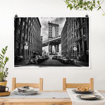 Poster - Manhattan Bridge in America - Querformat 2:3