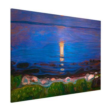 Magnettafel - Edvard Munch - Sommernacht am Meeresstrand - Memoboard Querformat 3:4