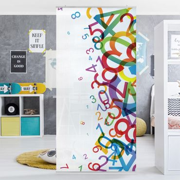 Raumteiler - Colourful Numbers 250x120cm