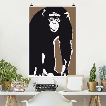 Poster - No.TA10 Schimpanse - Hochformat 3:2