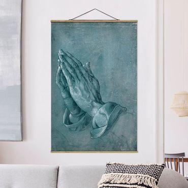 Stoffbild mit Posterleisten - Albrecht Dürer - Studie zu Betende Hände - Hochformat 2:3