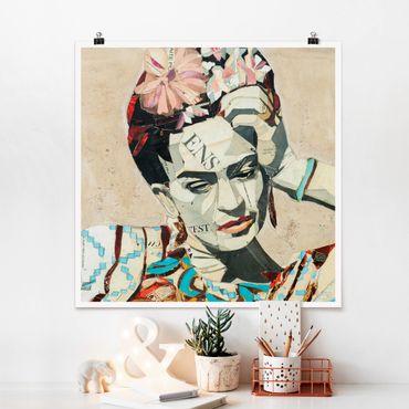Poster - Frida Kahlo - Collage No.1 - Quadrat 1:1