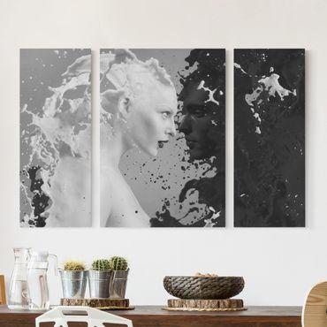 Leinwandbild 3-teilig - Milk & Coffee II - Triptychon