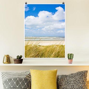 Poster - An der Nordseeküste - Hochformat 3:4