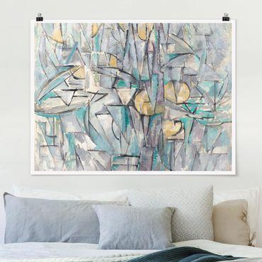 Poster - Piet Mondrian - Komposition X - Querformat 3:4
