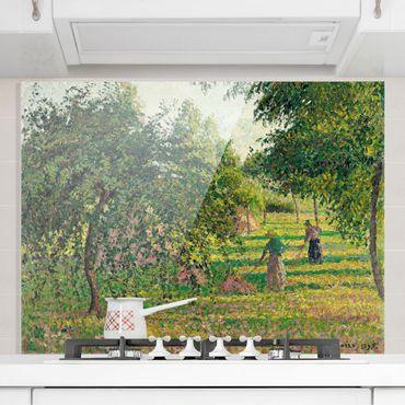 Spritzschutz Glas - Camille Pissarro - Apfelbäume - Querformat 3:4