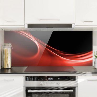 Spritzschutz Glas - Red Wave - Panorama - 5:2