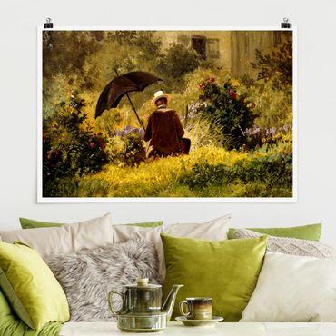 Poster - Carl Spitzweg - Der Maler im Garten - Querformat 2:3