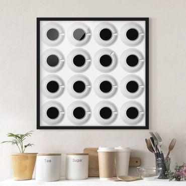 Bild mit Rahmen - Kaffeehaus - Quadrat 1:1