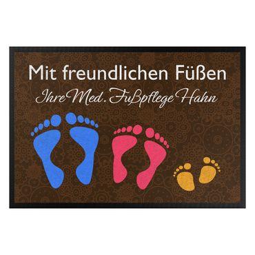 Fußmatte mit Wunschtext - Mit freundlichen Füßen Wunschtext