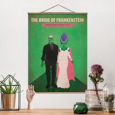 Stoffbild mit Posterleisten - Filmposter The Bride of Frankenstein - Hochformat 3:4