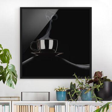 Bild mit Rahmen - Coffee in Bed - Quadrat 1:1
