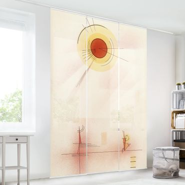 Schiebegardinen Set - Wassily Kandinsky - Strahlen - Flächenvorhänge