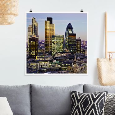 Poster - London City - Quadrat 1:1