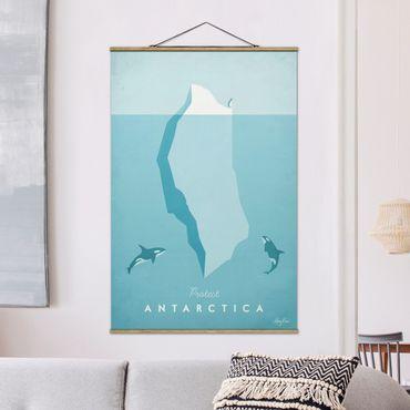 Stoffbild mit Posterleisten - Reiseposter - Antarktis - Hochformat 3:2