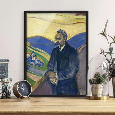 Bild mit Rahmen - Edvard Munch - Porträt Nietzsche - Hochformat 3:4