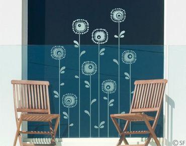 Fensterfolie - Fenstertattoo - Fensterdeko - No.SF988 Retroplants - Fensterbilder Frühling