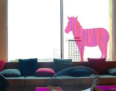 Fensterfolie - Fenstersticker No.IS13 Retro Streifen Zebra V2 - Fensterbilder