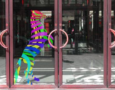 Fensterfolie - Fenstersticker No.IS15 Retro Psychedelisches Pferd - Fensterbilder