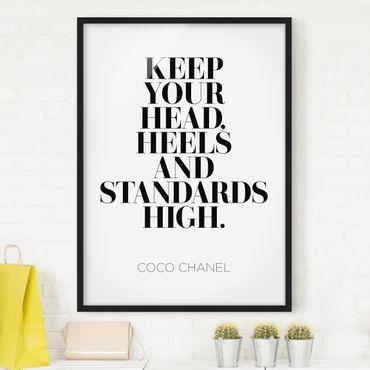 Bild mit Rahmen - Keep your head high - Hochformat 3:4