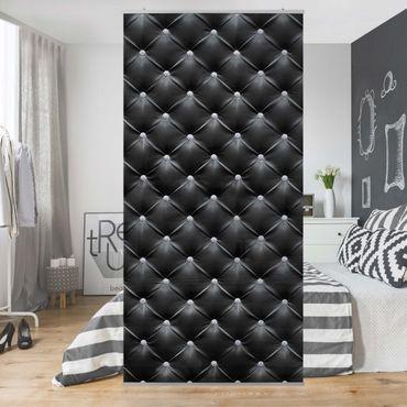 Raumteiler - Diamant Schwarz Luxus 250x120cm