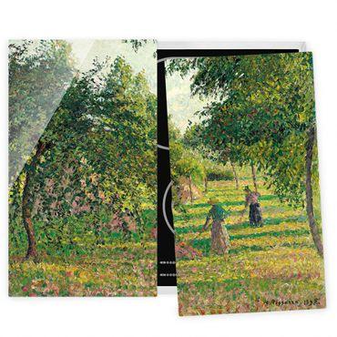 Herdabdeckplatte Glas - Camille Pissarro - Apfelbäume - 52x80cm