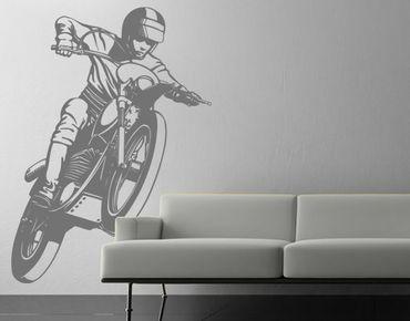 Wandtattoo einfarbig No.IS49 Motocross