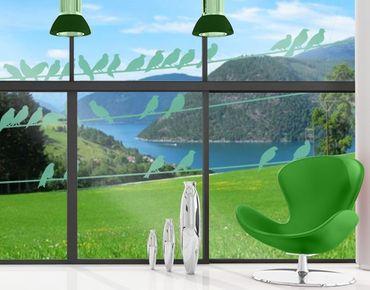 Fensterfolie - Fenstertattoo No.IS21 Vogelschar - Milchglasfolie