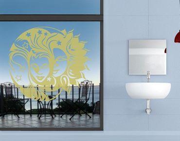 Fensterfolie - Fenstertattoo No.FB14 Sonne Mond Sterne - Milchglasfolie