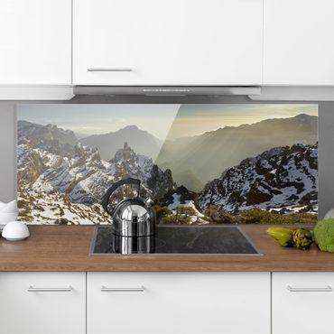 Spritzschutz Glas - Berge in La Palma - Panorama - 5:2