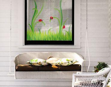 Fensterfolie - Fenstersticker No.EG27 Marienkäfer - Fensterbilder