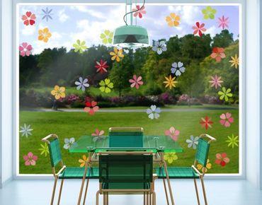 Fensterfolie - Fenstersticker - No.IS58 Blütenmeer - Fensterbilder Frühling