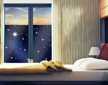 Fensterfolie - Sichtschutz Fenster Stars - Fensterbilder