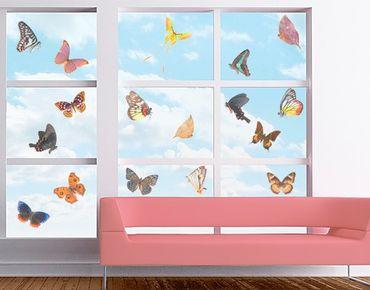 Fensterfolie - Fenstersticker No.468 Falter Set - Fensterbilder
