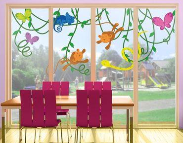 Fensterfolie - Fenstersticker No.IS67 TrapezÄffchen - Fensterbilder