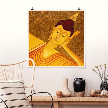 Poster - Shanghai Buddha - Quadrat 1:1