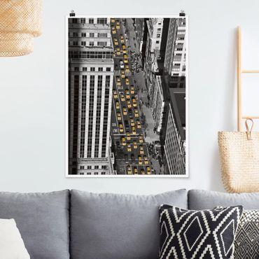 Poster - Taxiverkehr in Manhattan - Hochformat 3:4