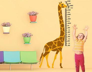 Wandtattoo Giraffe No.CG146 Giraffenmaßband 153x78 cm