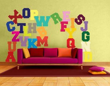 Wandtattoo Sprüche No.KS3 Buntes Alphabet
