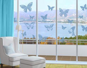 Fensterfolie - Fenstertattoo No.EG38 Schmetterlinge 2 - Milchglasfolie