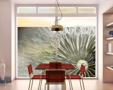 Fensterfolie - Sichtschutz Fenster Pusteblume Schwarz & Weiß - Fensterbilder