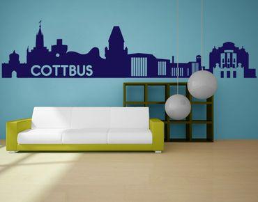 Stadt Cottbus - Wandtattoo Skyline - No.ML13 Cottbus Skyline I