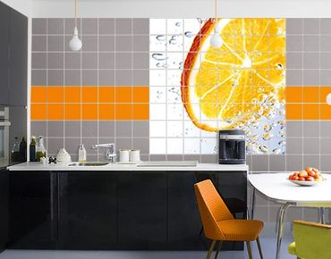 Fliesenbild - Splash Orange