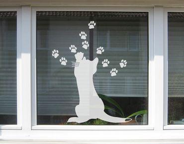 Fensterfolie - Fenstertattoo No.UL631 Kleine Katze - Milchglasfolie